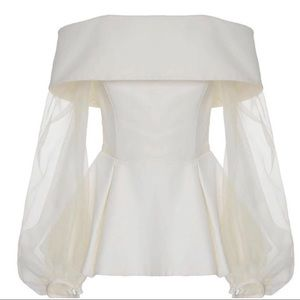 New- Silky sheer luxury top in Ivory white size L